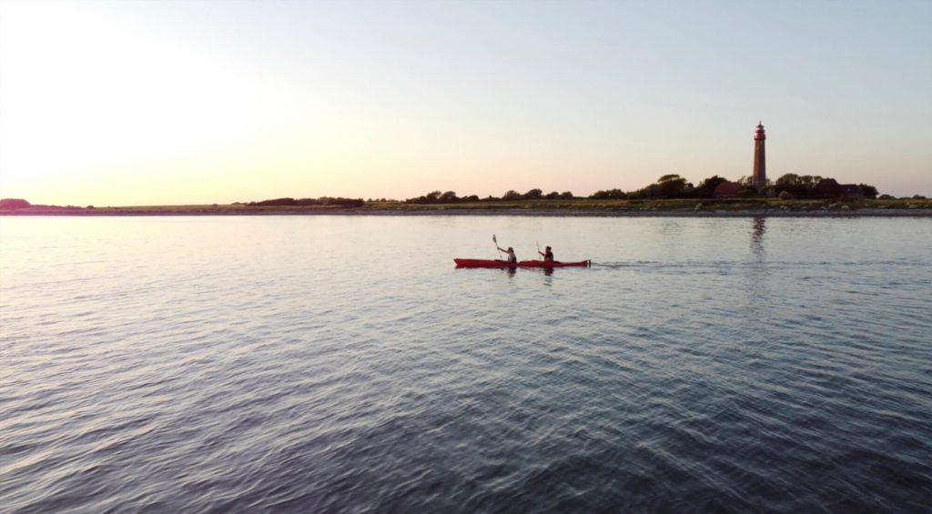 Zweierkajak auf der Ostsee bei Fehmarn